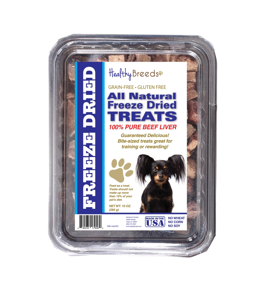 Healthy Breeds 840235179580 10 oz Russian Toy Terrier All Natural Freeze Dried Treats Beef Liver