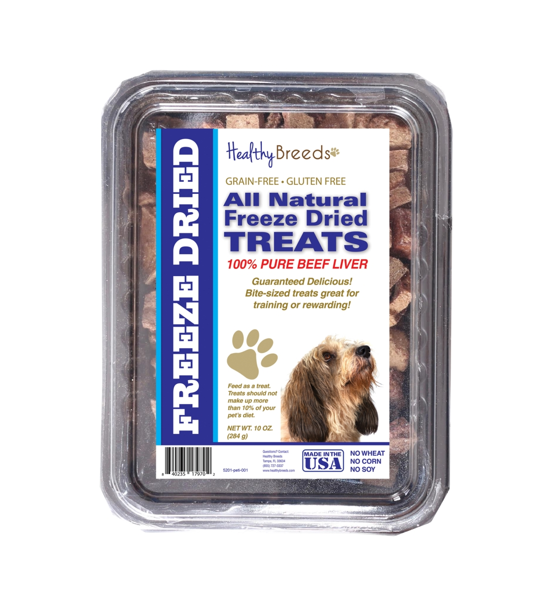 Healthy Breeds 840235179702 10 oz Petits Bassets Griffons Vendeen All Natural Freeze Dried Treats Beef Liver