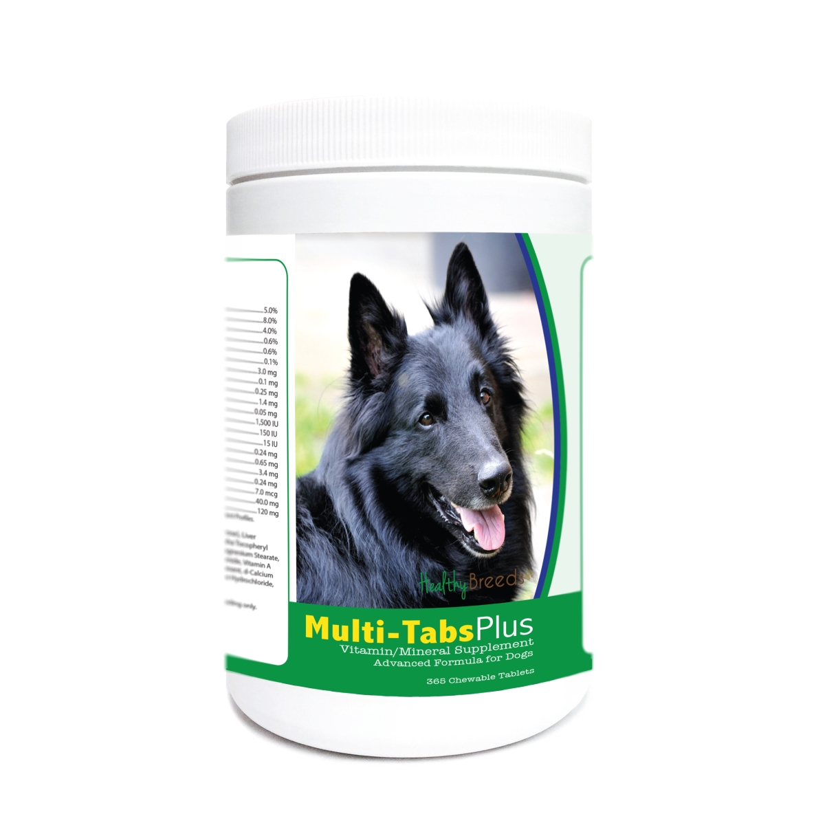 Healthy Breeds 840235179733 Belgian Sheepdog Multi-Tabs Plus Chewable Tablets - 365 Count