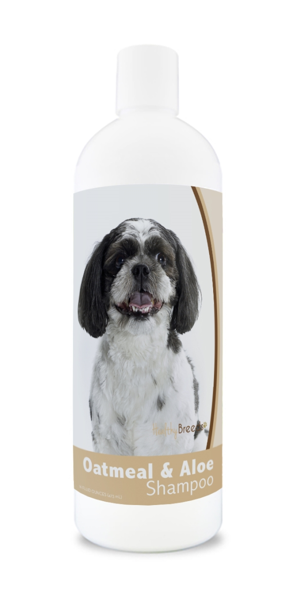 Healthy Breeds 840235179887 16 oz Shih-Poo Oatmeal Shampoo with Aloe