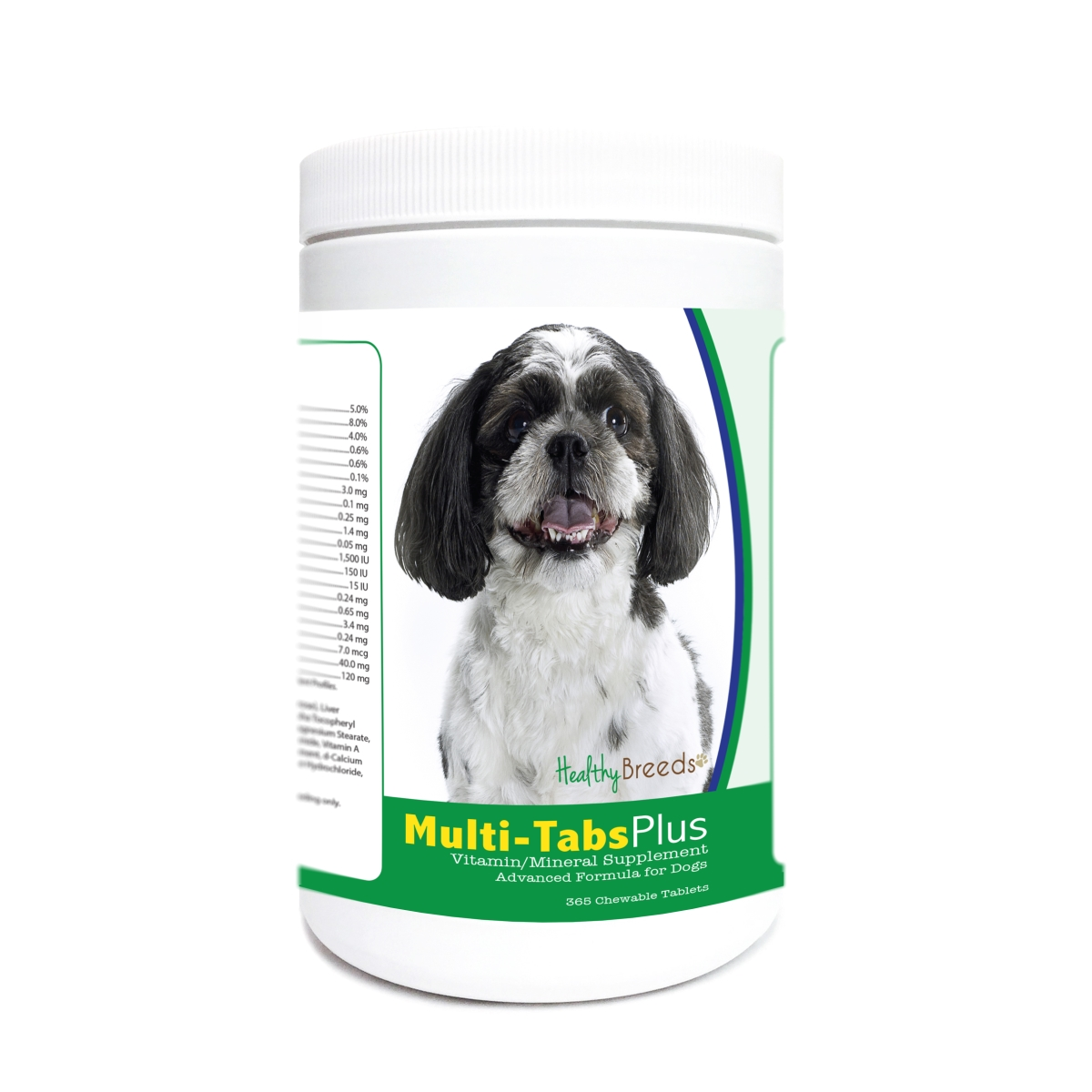 Healthy Breeds 840235179917 Shih-Poo Multi-Tabs Plus Chewable Tablets - 365 Count