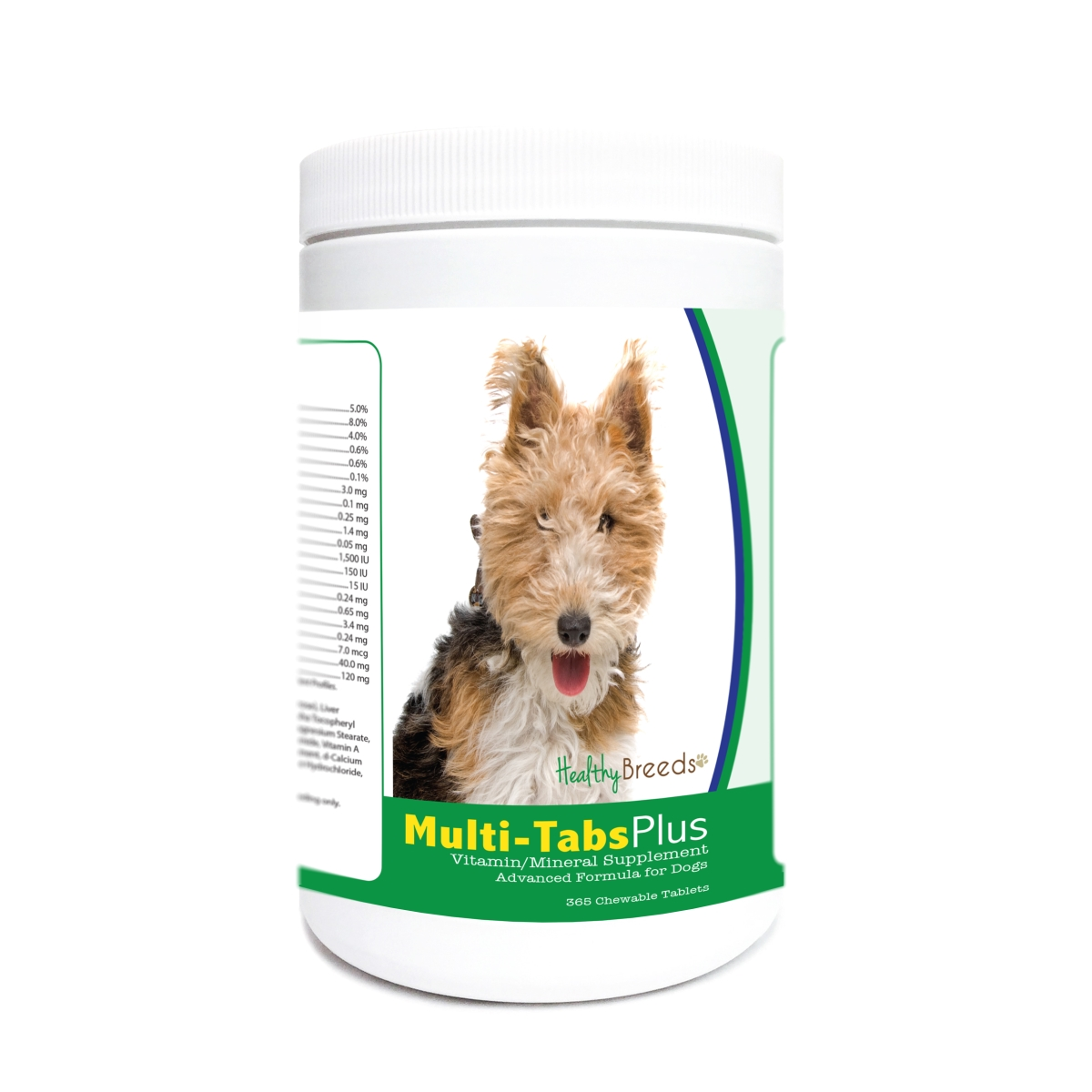 Healthy Breeds 840235179948 Wire Fox Terrier Multi-Tabs Plus Chewable Tablets - 365 Count