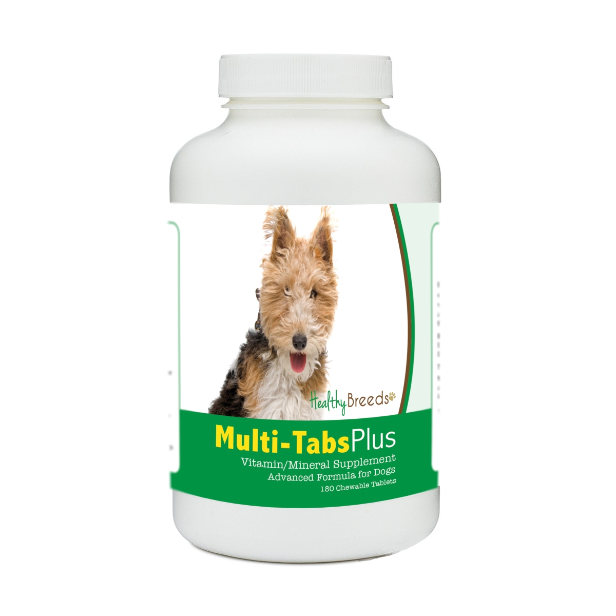 Healthy Breeds 840235179986 Wire Fox Terrier Multi-Tabs Plus Chewable Tablets - 180 Count