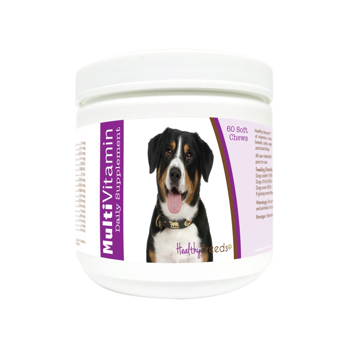 Healthy Breeds 840235180098 Entlebucher Mountain Dog Multi-Vitamin Soft Chews - 60 Count