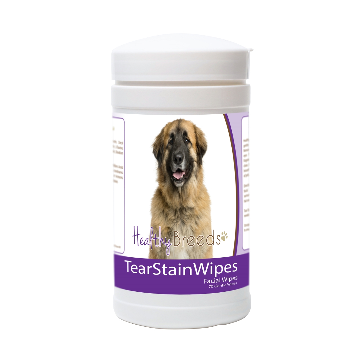 Healthy Breeds 840235180203 Leonberger Tear Stain Wipes - 70 Count