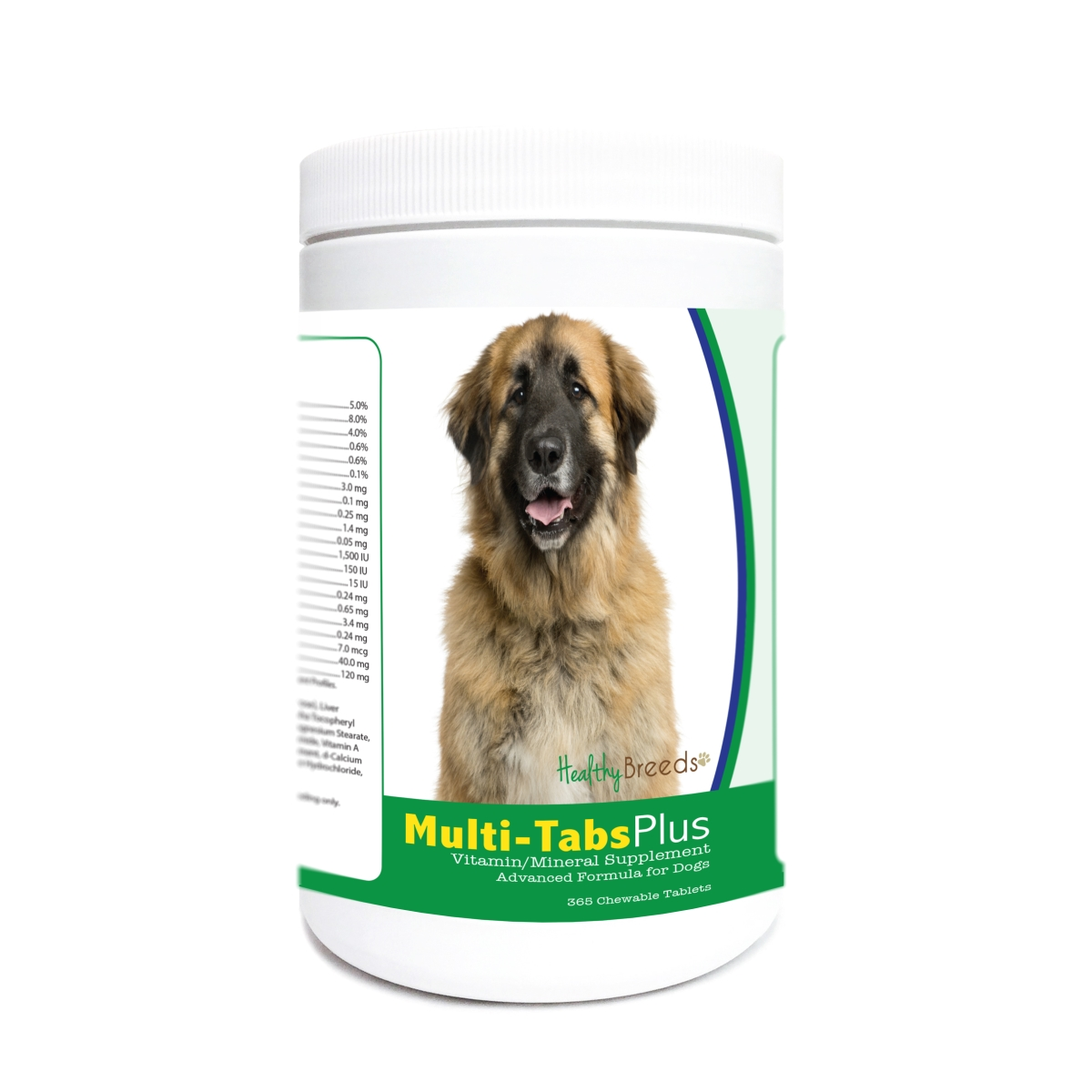 Healthy Breeds 840235180241 Leonberger Multi-Tabs Plus Chewable Tablets - 365 Count