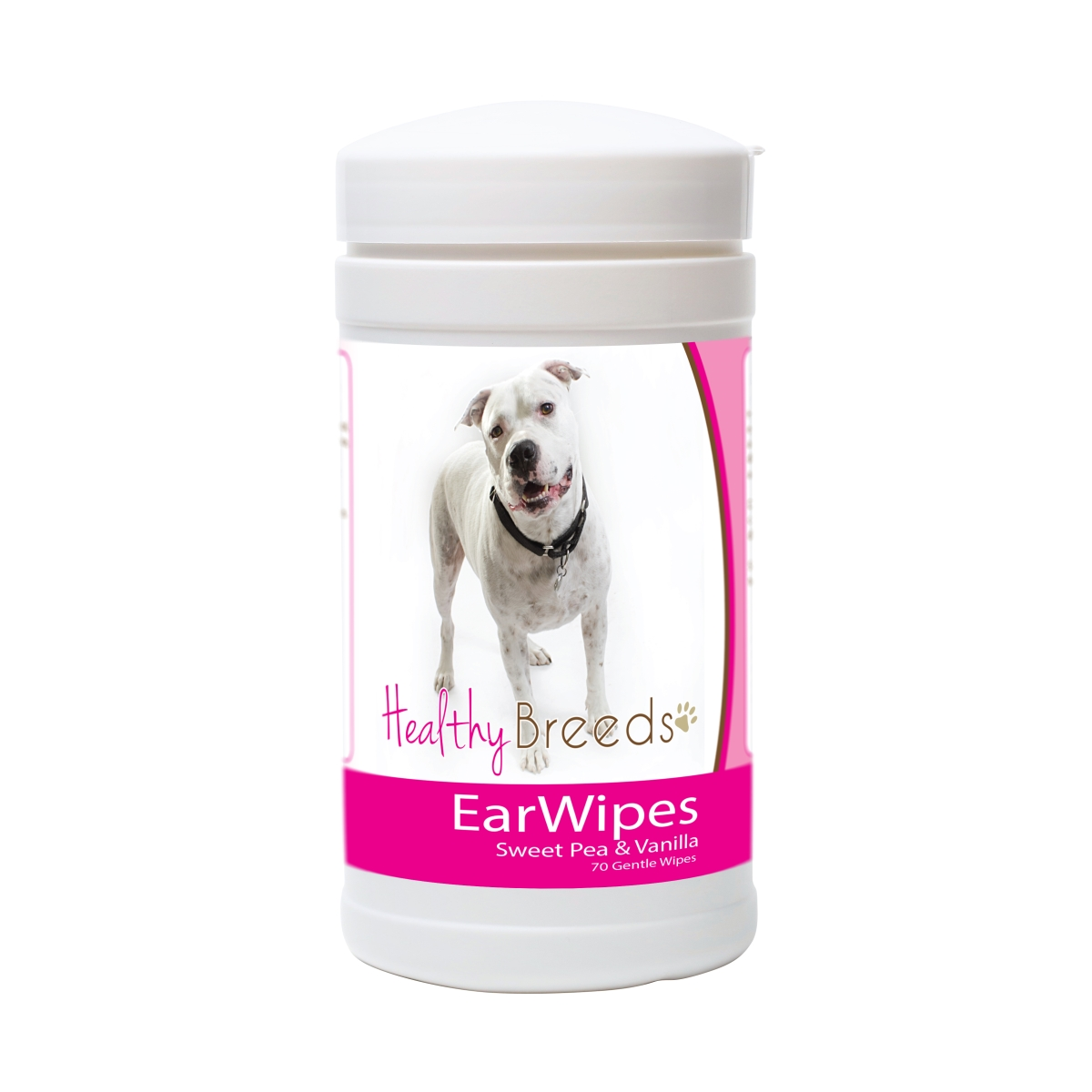Healthy Breeds 840235180425 Pit Bull Ear Wipes - 70 Count