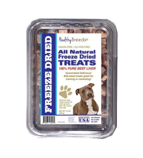 Healthy Breeds 840235180432 10 oz Pit Bull All Natural Freeze Dried Treats Beef Liver