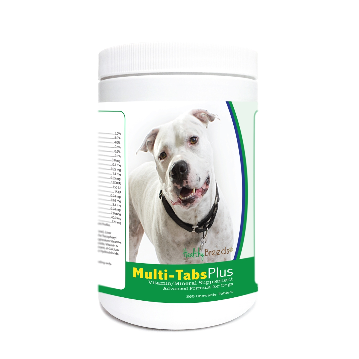 Healthy Breeds 840235180456 Pit Bull Multi-Tabs Plus Chewable Tablets - 365 Count