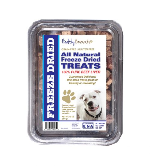 Healthy Breeds 840235180470 10 oz Pit Bull All Natural Freeze Dried Treats Beef Liver