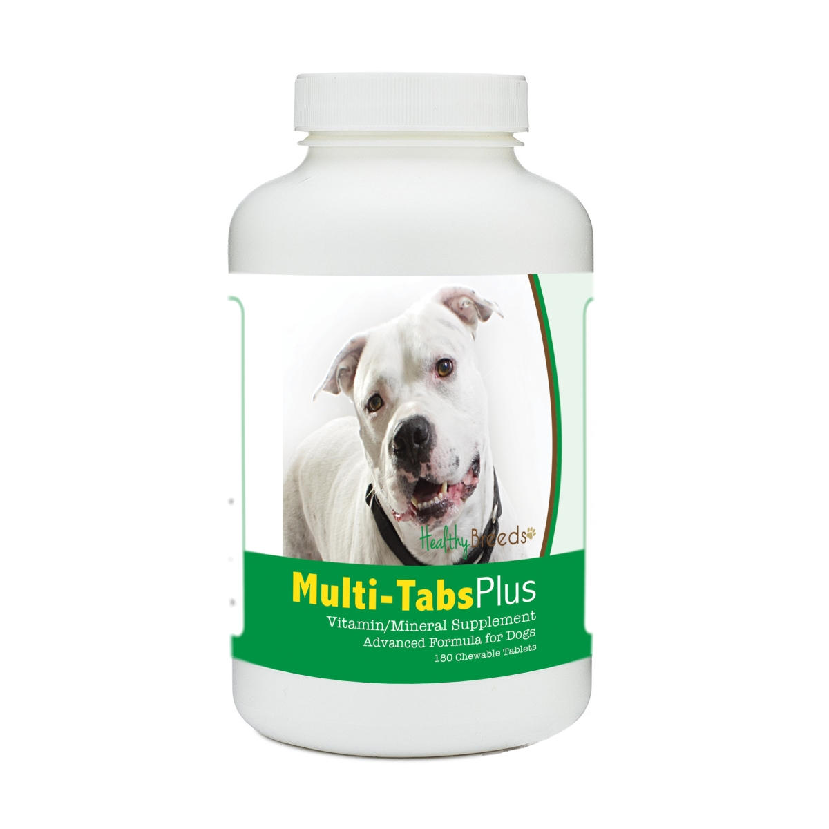 Healthy Breeds 840235180524 Pit Bull Multi-Tabs Plus Chewable Tablets - 180 Count