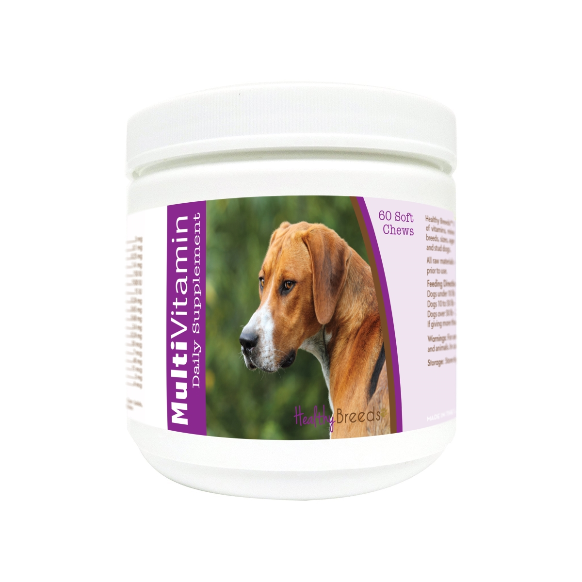 Healthy Breeds 840235180593 English Foxhound Multi-Vitamin Soft Chews - 60 Count