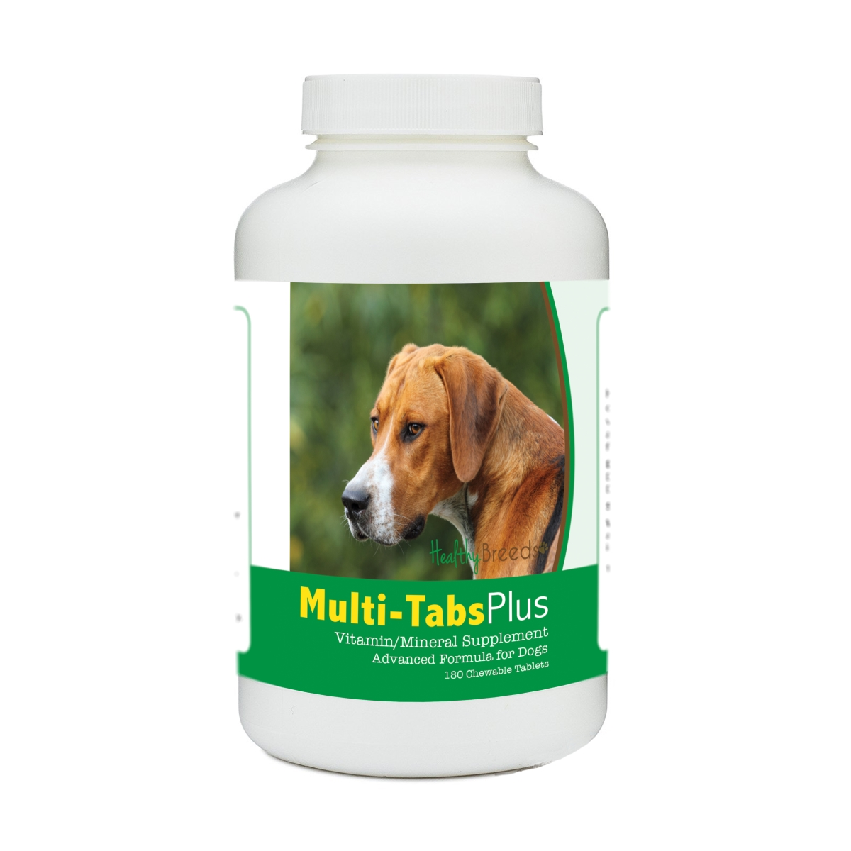 Healthy Breeds 840235180609 English Foxhound Multi-Tabs Plus Chewable Tablets - 180 Count