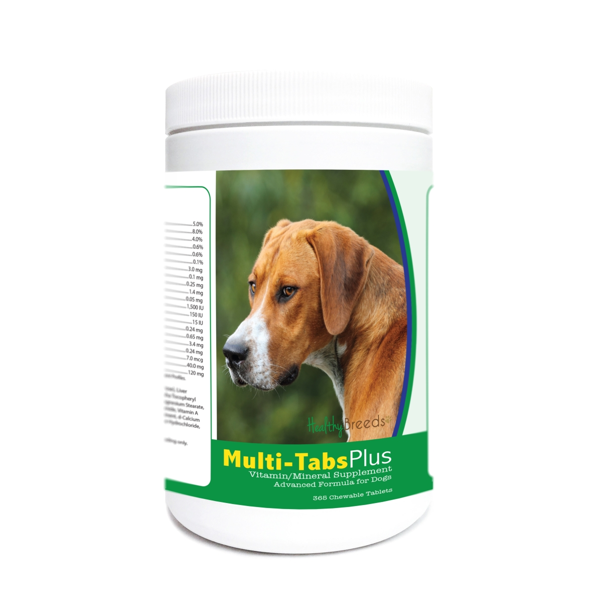 Healthy Breeds 840235180616 English Foxhound Multi-Tabs Plus Chewable Tablets - 365 Count