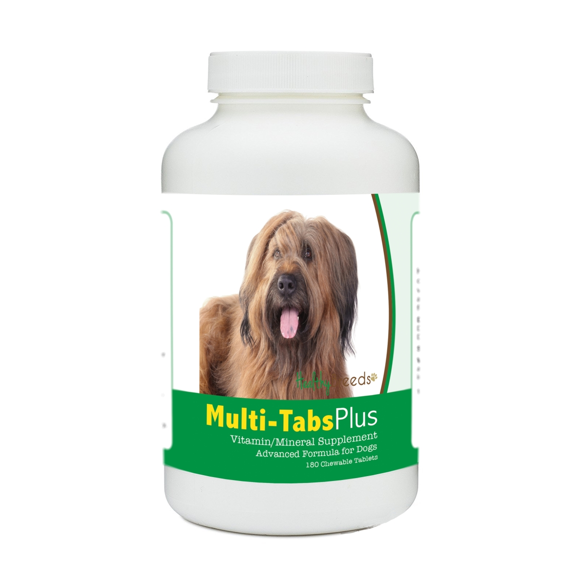 Healthy Breeds 840235180685 Briard Multi-Tabs Plus Chewable Tablets - 180 Count