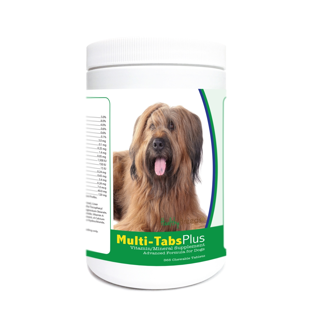 Healthy Breeds 840235180746 Briard Multi-Tabs Plus Chewable Tablets - 365 Count