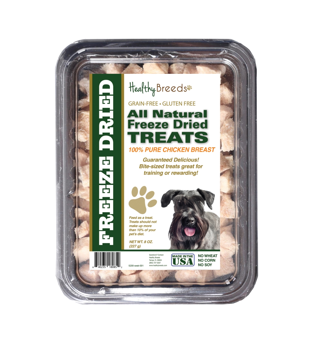 Healthy Breeds 840235180852 8 oz Cesky Terrier All Natural Freeze Dried Treats Chicken Breast