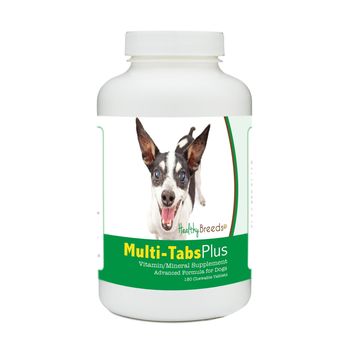 Healthy Breeds 840235181026 Rat Terrier Multi-Tabs Plus Chewable Tablets - 180 Count