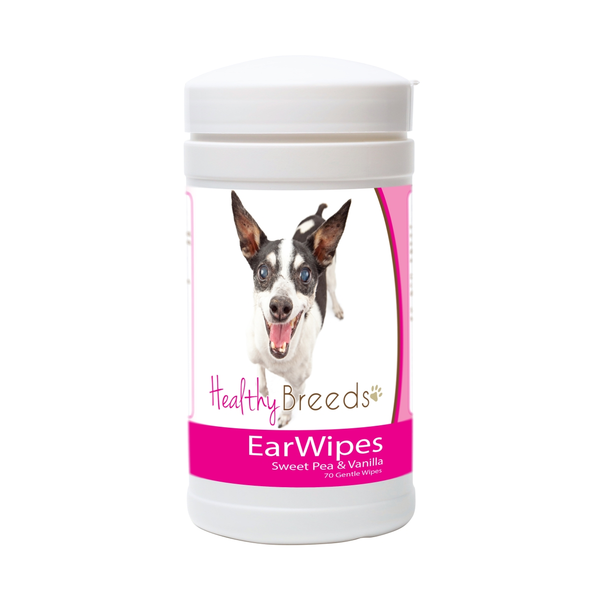 Healthy Breeds 840235181095 Rat Terrier Ear Wipes - 70 Count