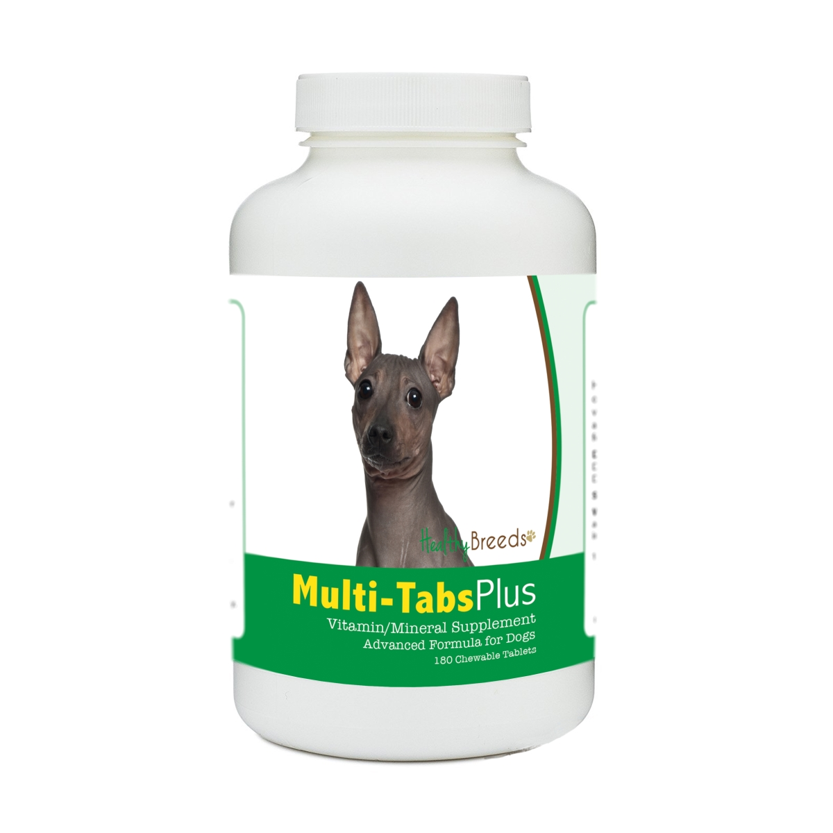 Healthy Breeds 840235181163 American Hairless Terrier Multi-Tabs Plus Chewable Tablets - 180 Count