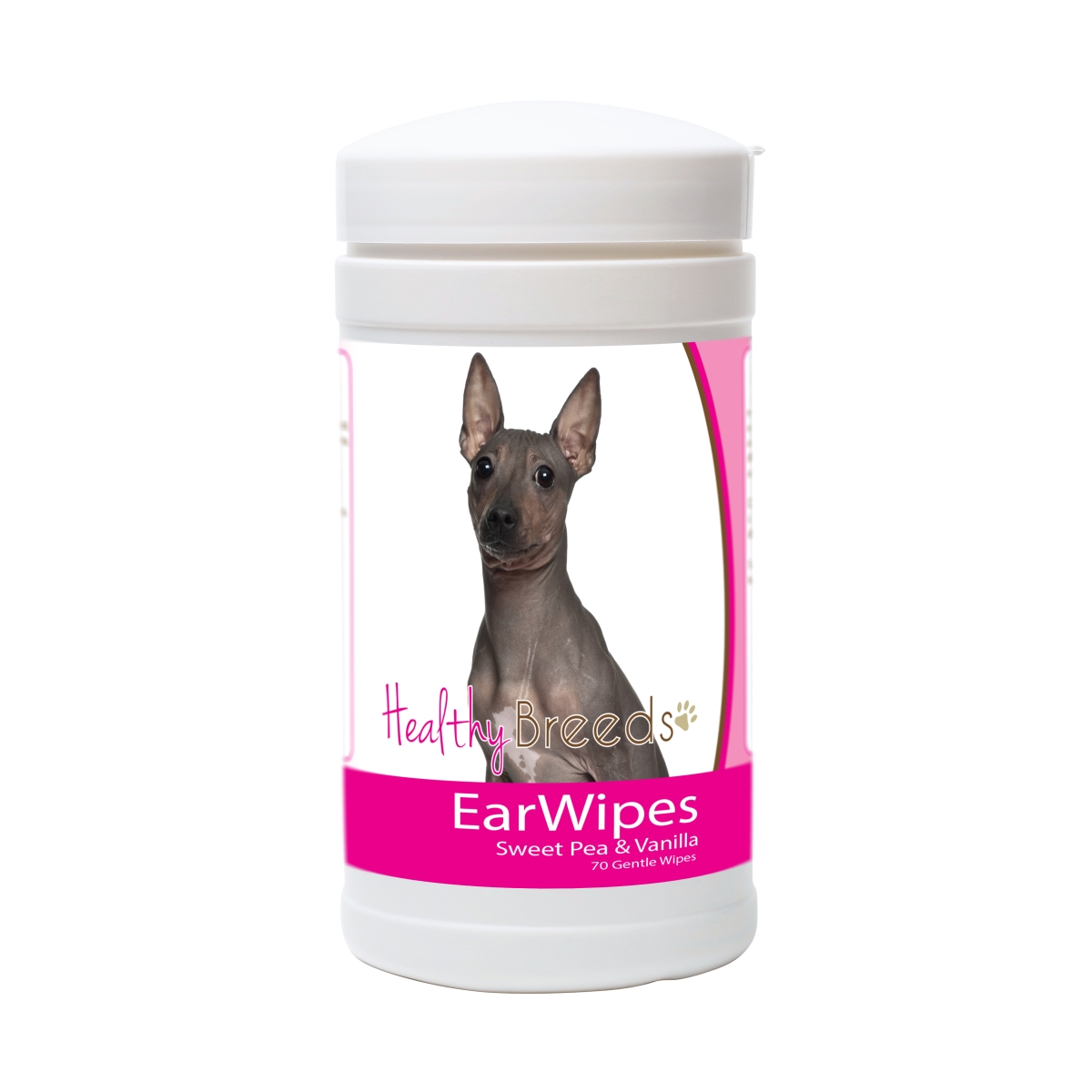 Healthy Breeds 840235181170 American Hairless Terrier Ear Wipes - 70 Count