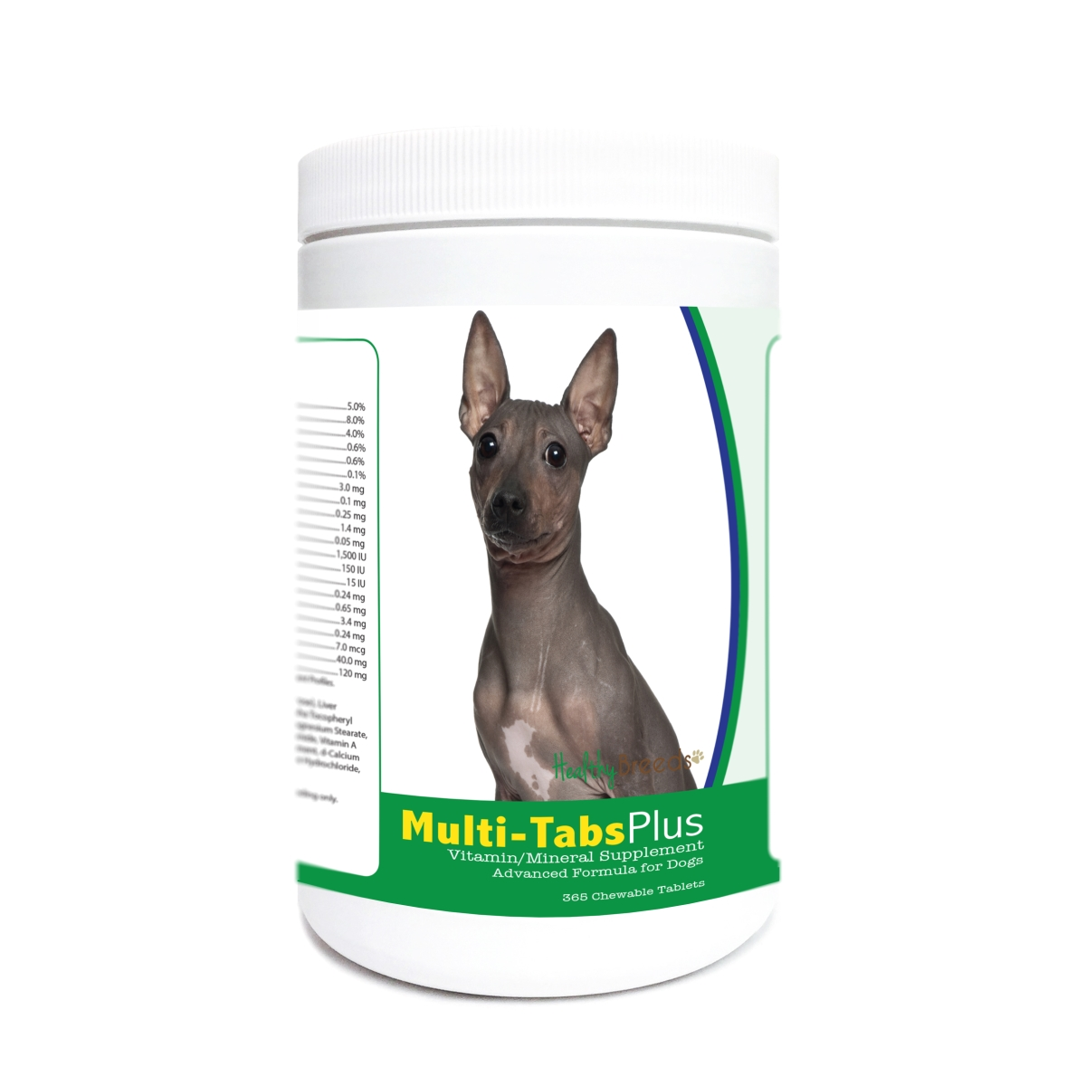 Healthy Breeds 840235181217 American Hairless Terrier Multi-Tabs Plus Chewable Tablets - 365 Count