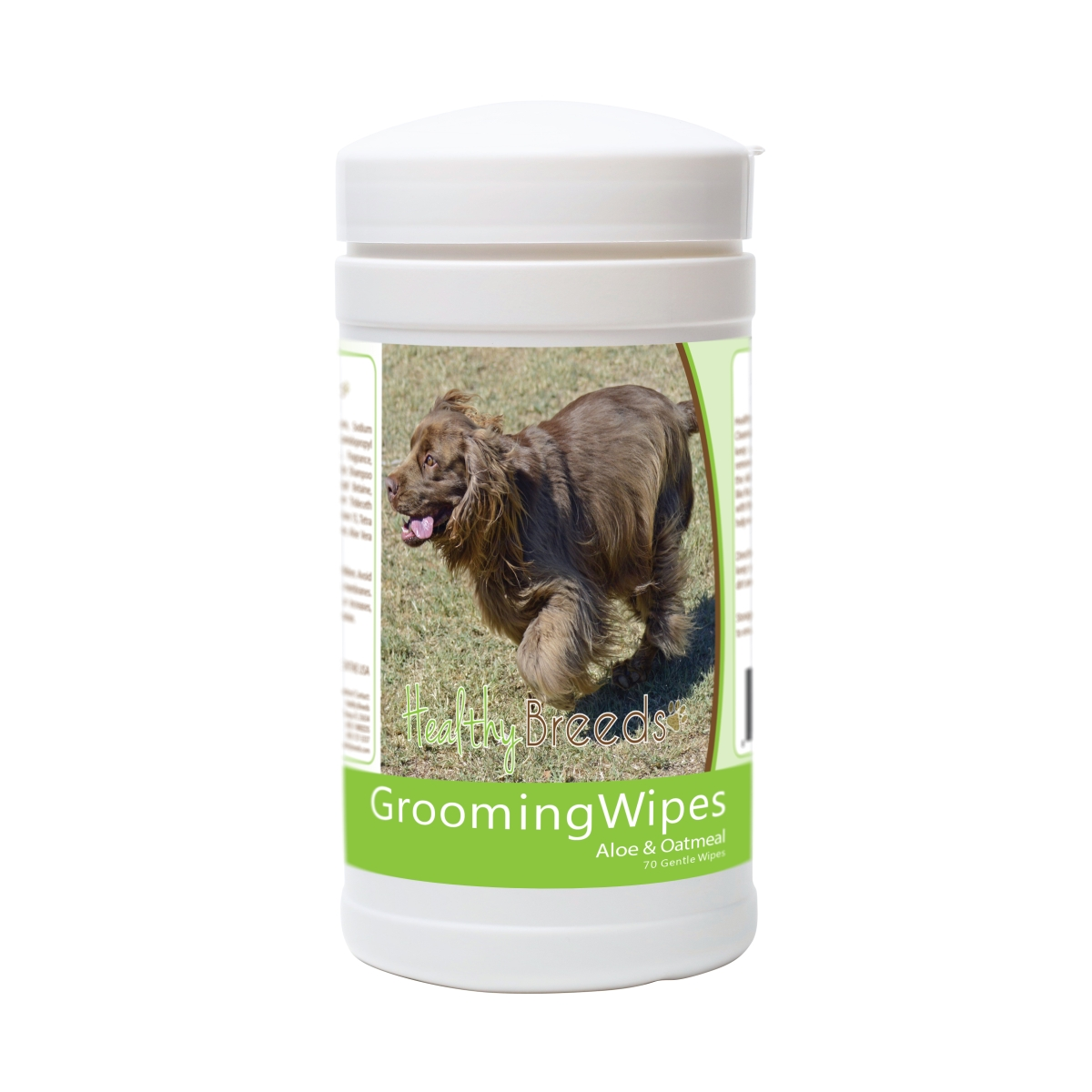 Healthy Breeds 840235181415 Sussex Spaniel Grooming Wipes - 70 Count