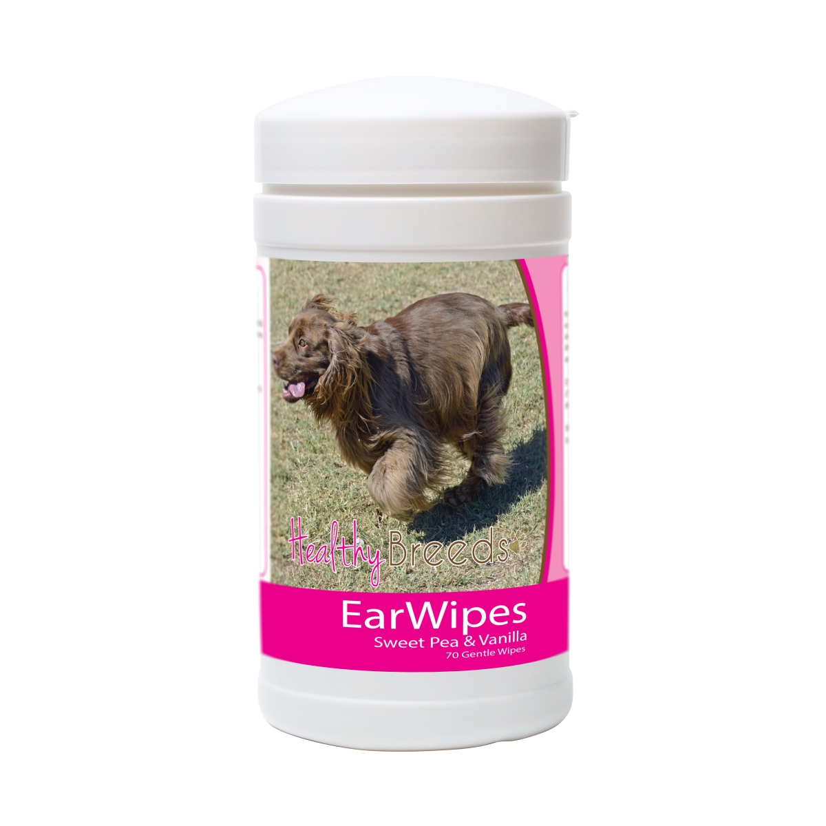 Healthy Breeds 840235181422 Sussex Spaniel Ear Wipes - 70 Count