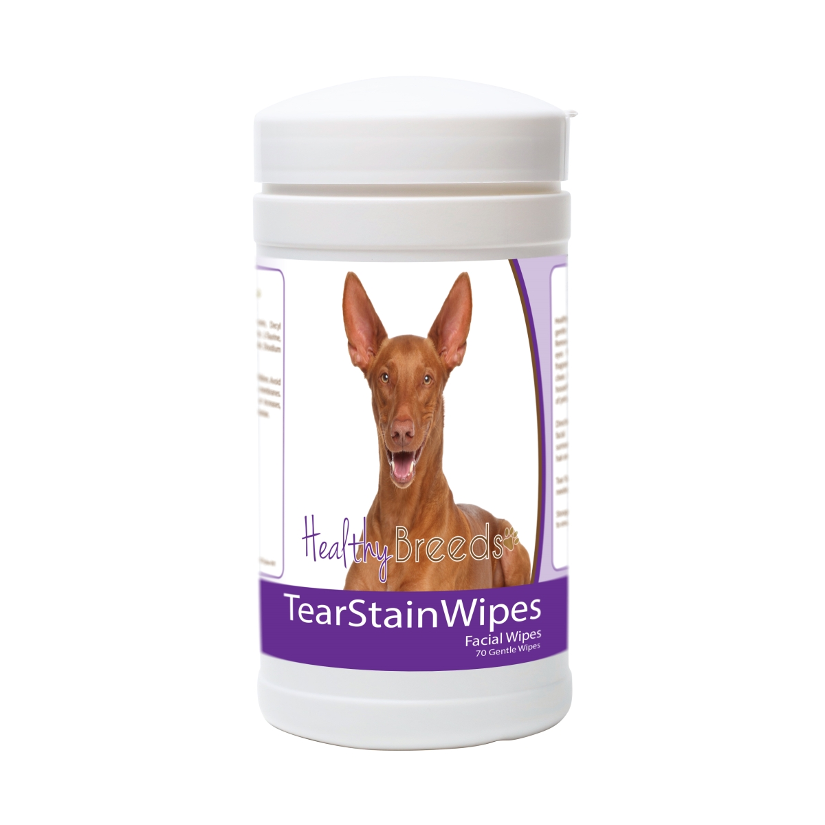 Healthy Breeds 840235181446 Pharaoh Hound Tear Stain Wipes - 70 Count