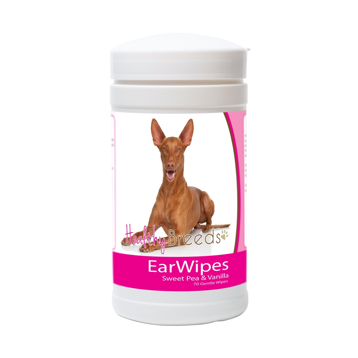 Healthy Breeds 840235181507 Pharaoh Hound Ear Wipes - 70 Count