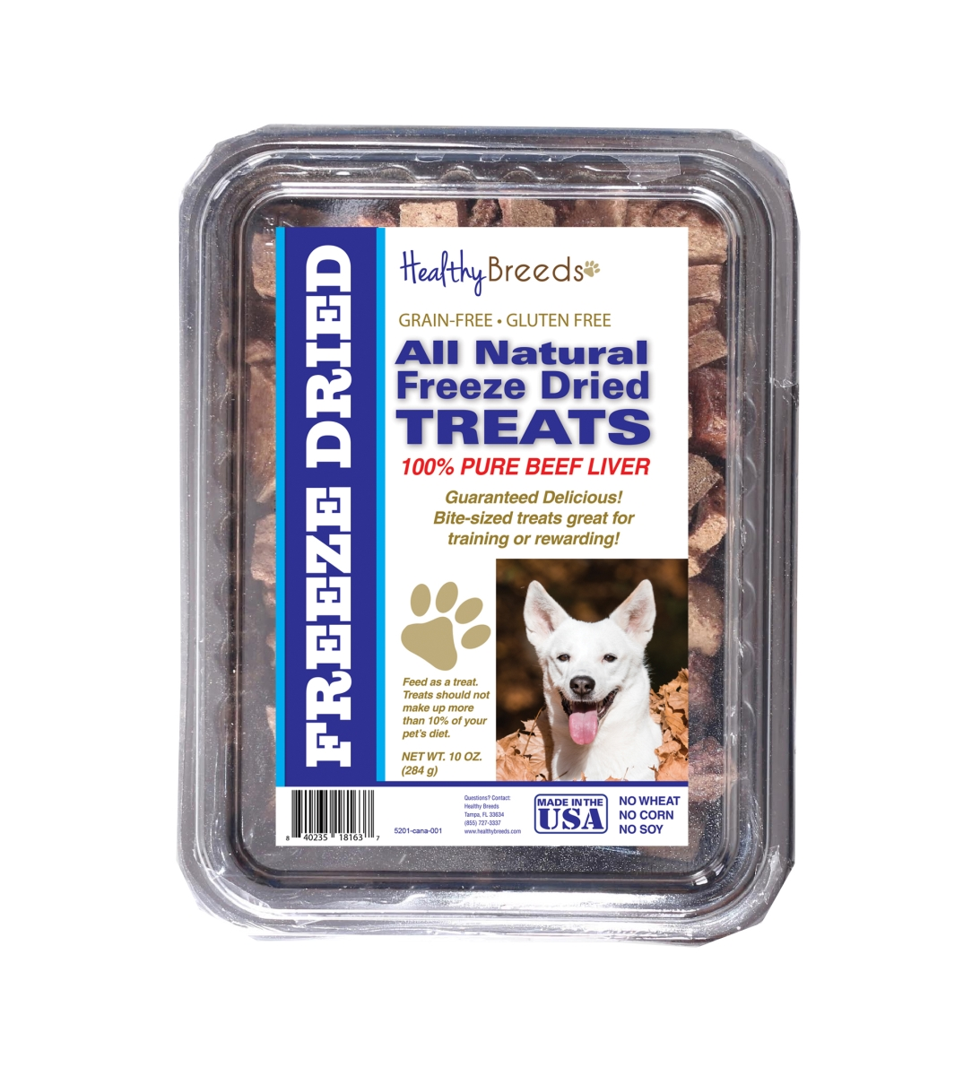 Healthy Breeds 840235181637 10 oz Canaan Dog All Natural Freeze Dried Treats Beef Liver