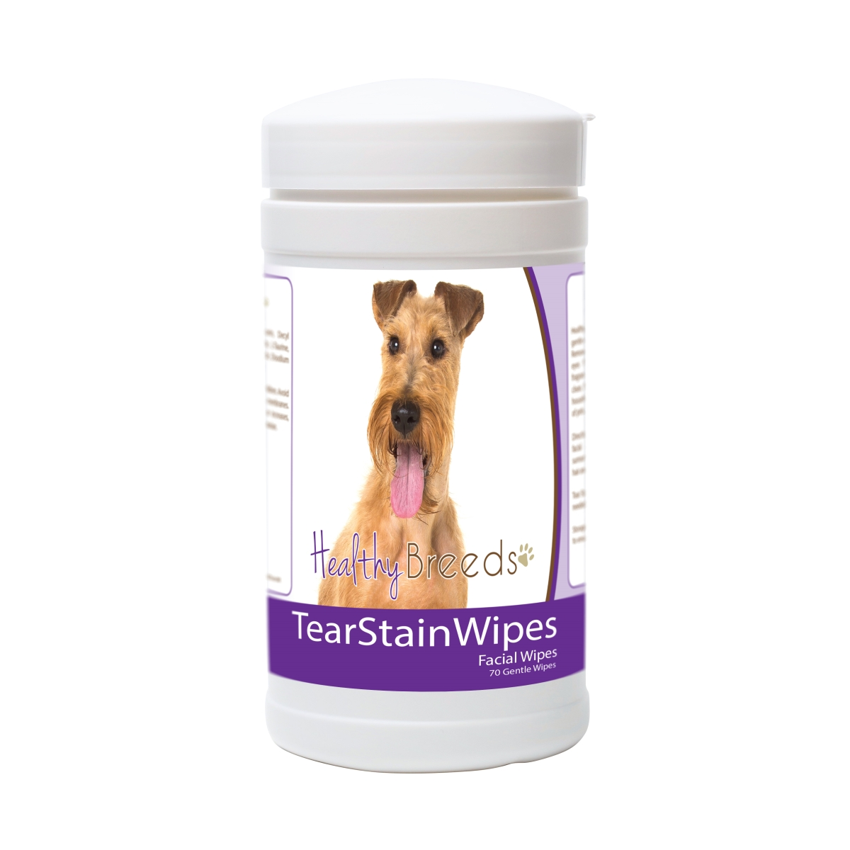 Healthy Breeds 840235181729 Irish Terrier Tear Stain Wipes - 70 Count