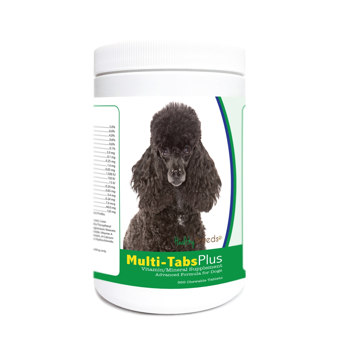 Healthy Breeds 840235181811 Poodle Multi-Tabs Plus Chewable Tablets - 365 Count