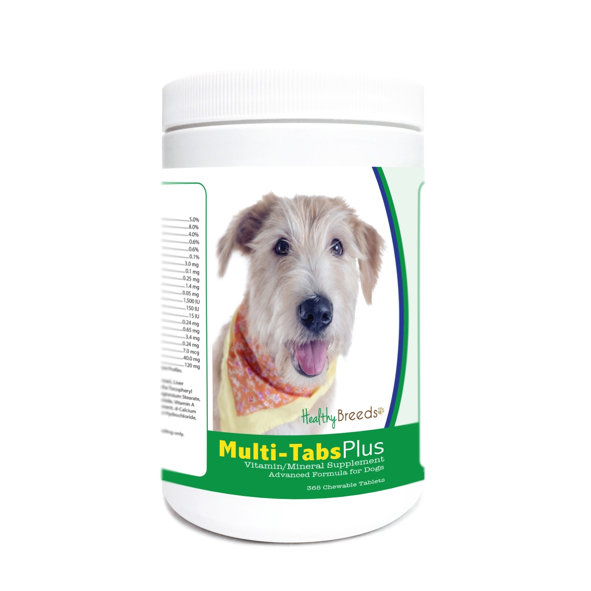 Healthy Breeds 840235181842 Glen of Imaal Terrier Multi-Tabs Plus Chewable Tablets - 365 Count