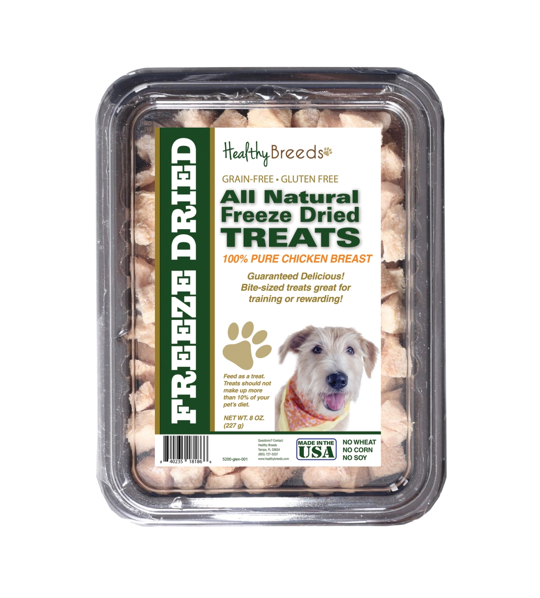 Healthy Breeds 840235181866 8 oz Glen of Imaal Terrier All Natural Freeze Dried Treats Chicken Breast