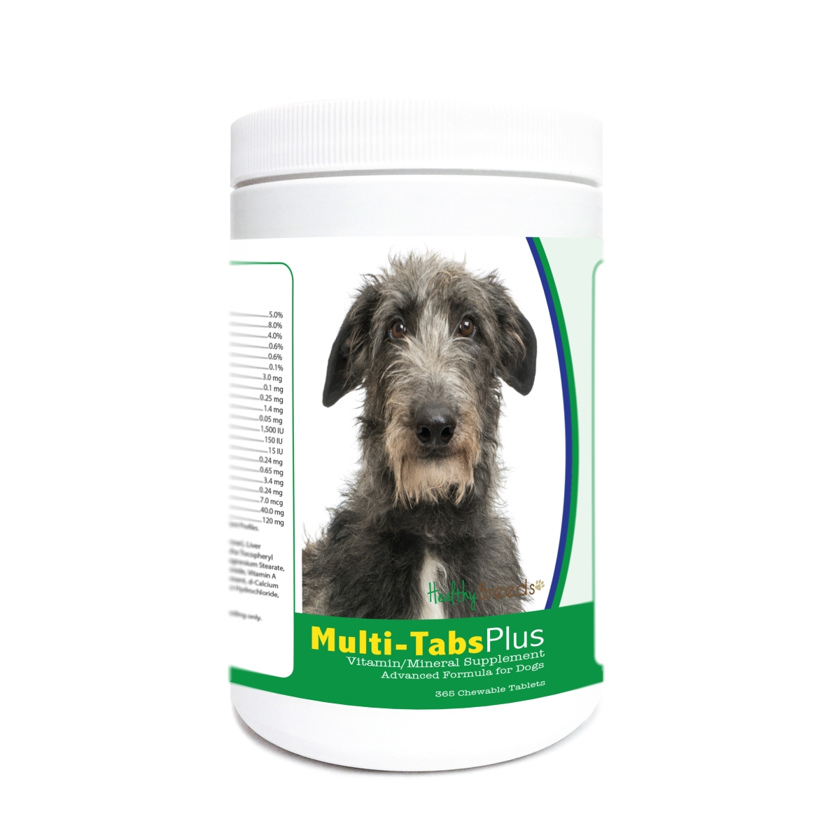 Healthy Breeds 840235181996 Scottish Deerhound Multi-Tabs Plus Chewable Tablets - 365 Count