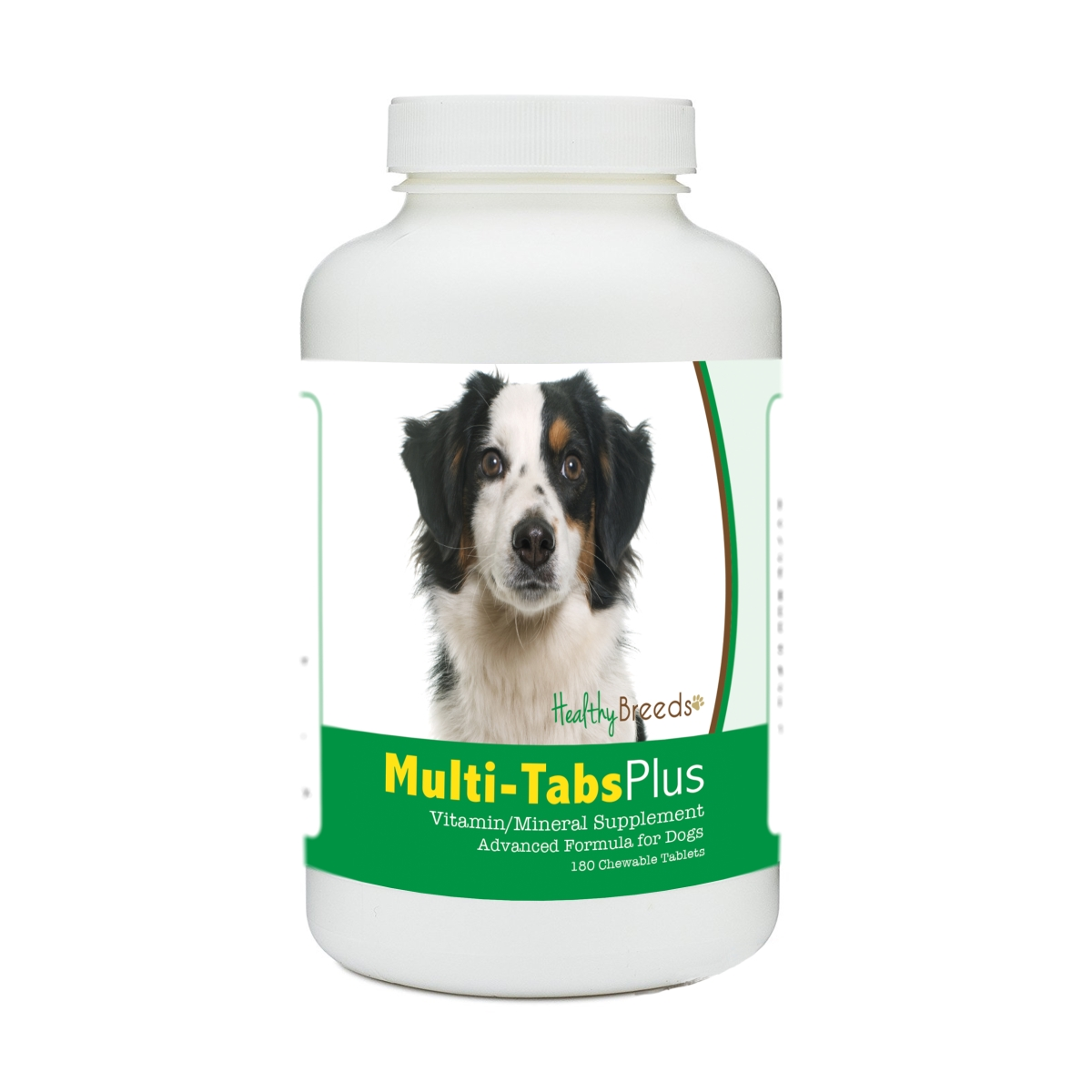 Healthy Breeds 840235182085 Miniature American Shepherd Multi-Tabs Plus Chewable Tablets - 180 Count