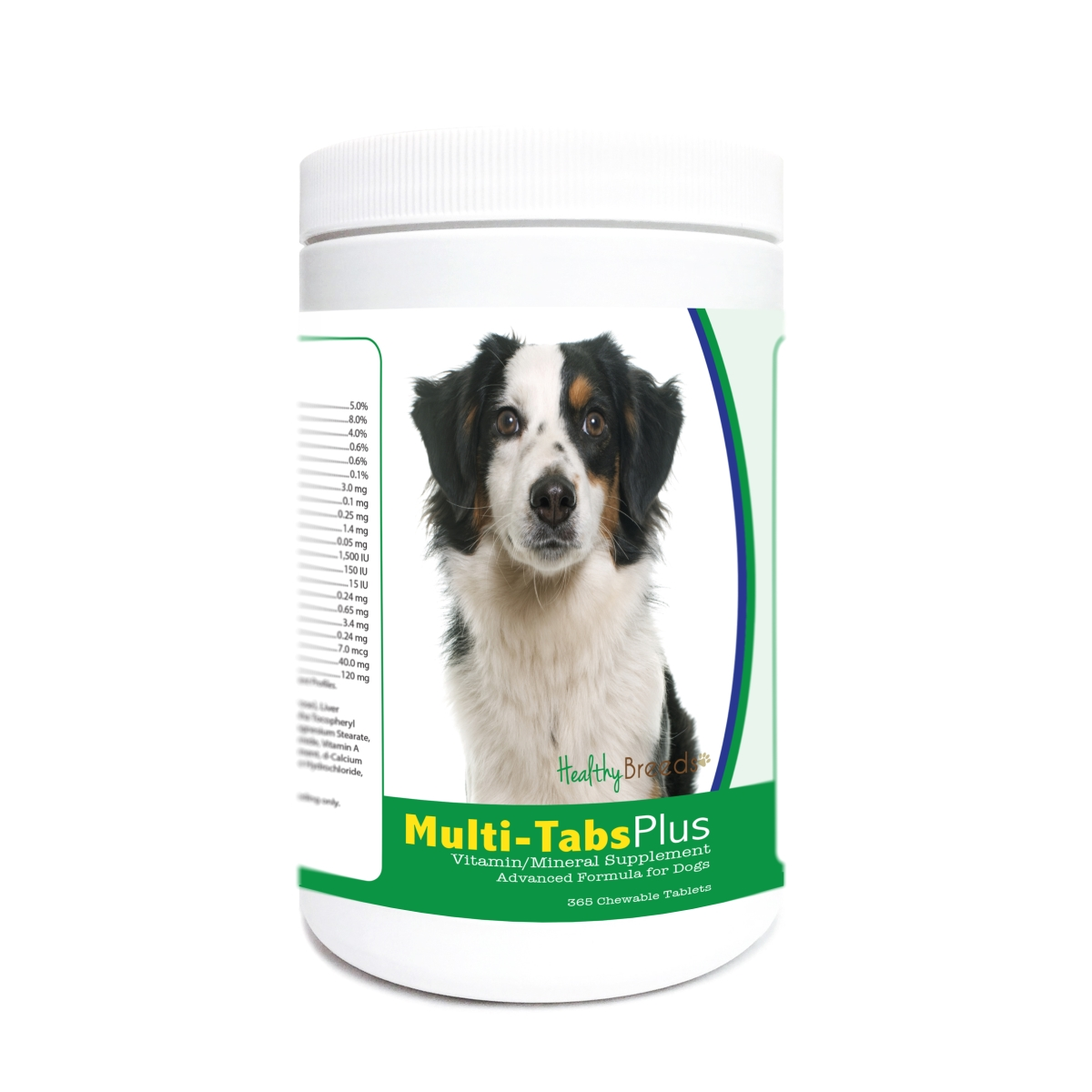 Healthy Breeds 840235182092 Miniature American Shepherd Multi-Tabs Plus Chewable Tablets - 365 Count