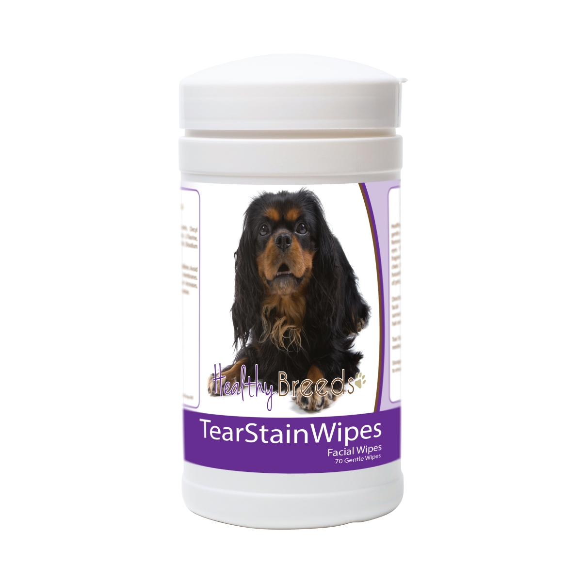 Healthy Breeds 840235182221 English Toy Spaniel Tear Stain Wipes - 70 Count