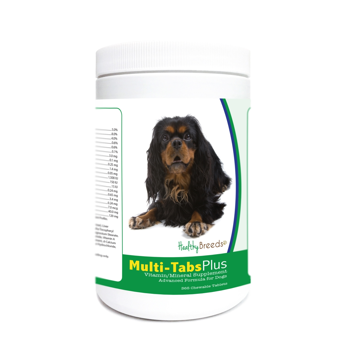 Healthy Breeds 840235182245 English Toy Spaniel Multi-Tabs Plus Chewable Tablets - 365 Count