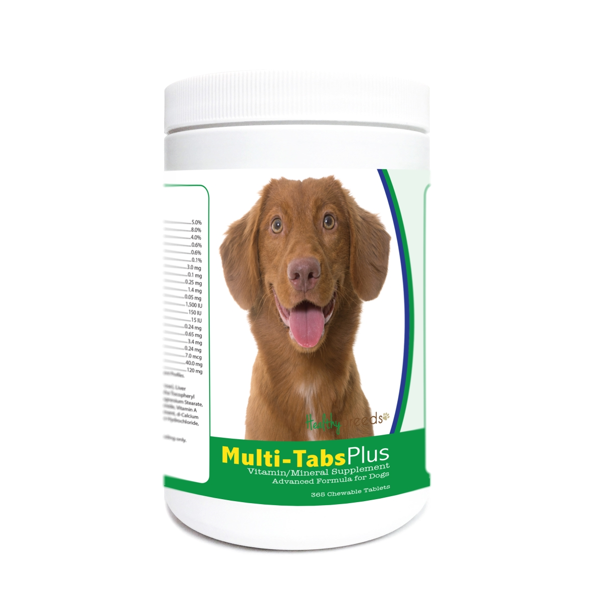 Healthy Breeds 840235182344 Nova Scotia Duck Tolling Retriever Multi-Tabs Plus Chewable Tablets - 365 Count