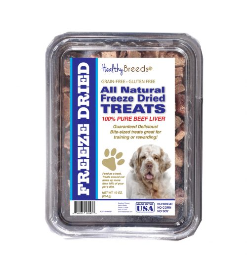 Healthy Breeds 840235182436 10 oz Clumber Spaniel All Natural Freeze Dried Treats Beef Liver
