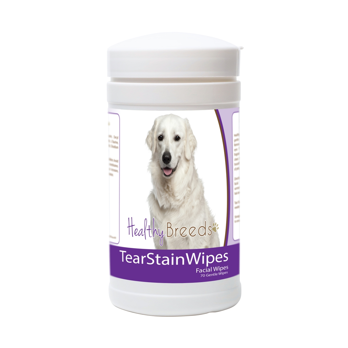 Healthy Breeds 840235182542 Kuvasz Tear Stain Wipes - 70 Count