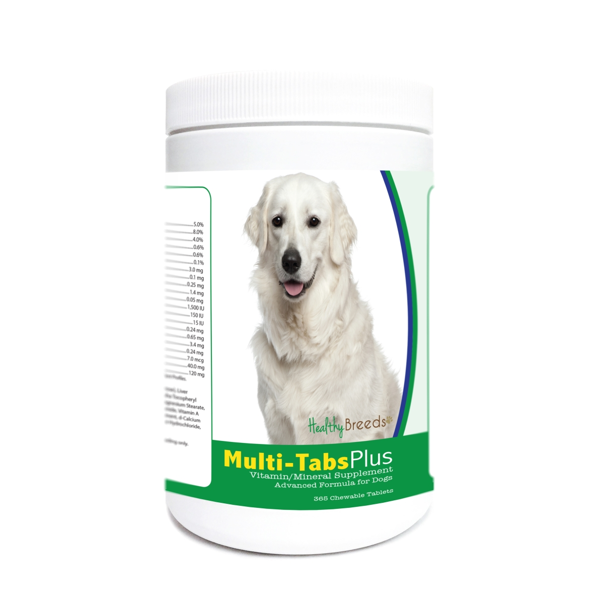Healthy Breeds 840235182559 Kuvasz Multi-Tabs Plus Chewable Tablets - 365 Count