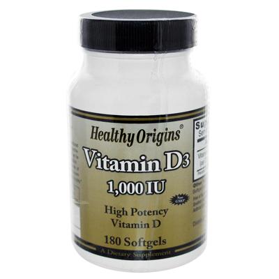 Healthy Origins Vitamin D3 - 1000 IU - 180 softgels