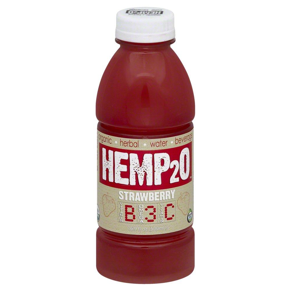 Hemp2O 261096 Organic Strawberry Vitamin Water 16.9 fl. oz - Pack of 12