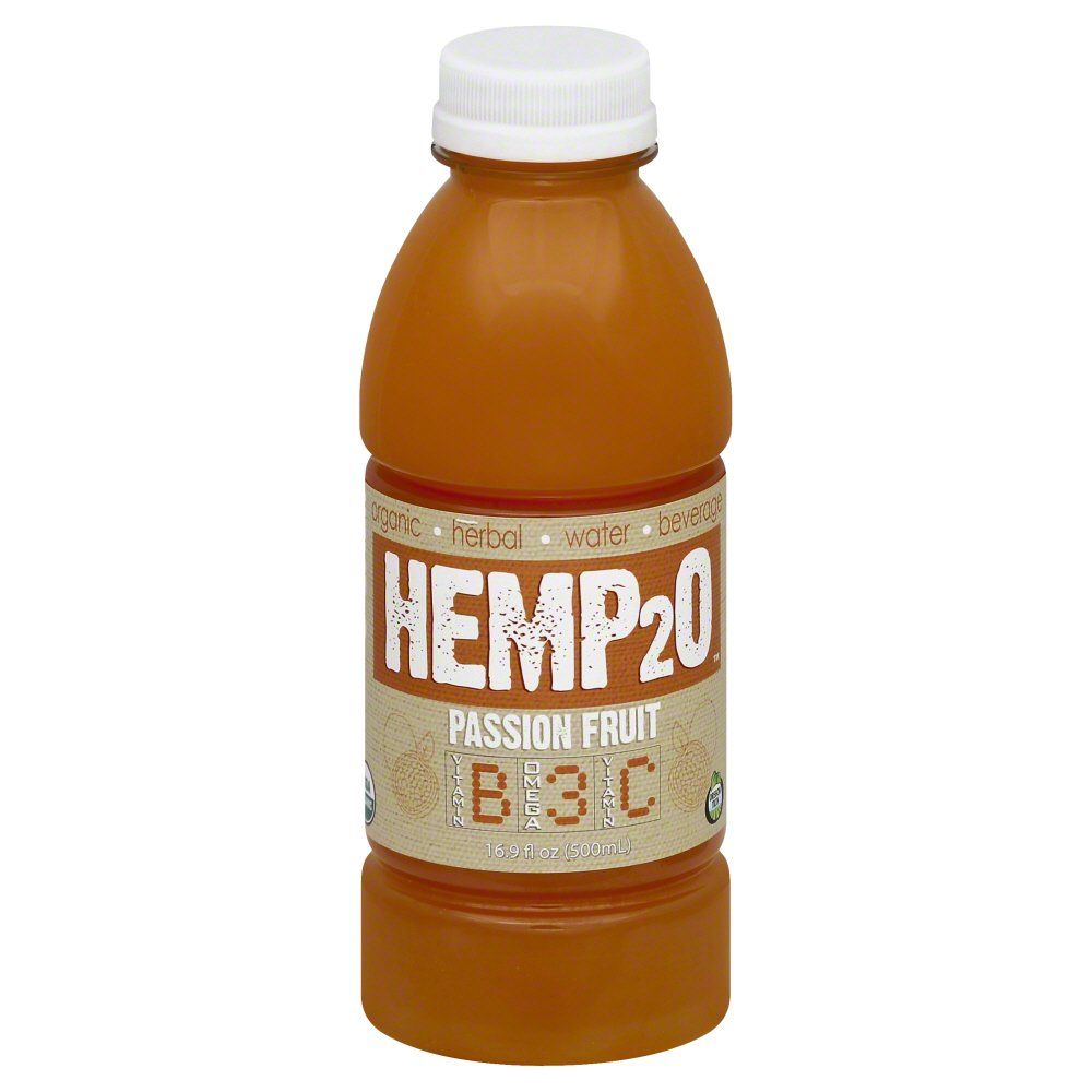 Hemp2O 261098 Organic Passion Fruit Vitamin Water 16.9 fl. oz - Pack of 12