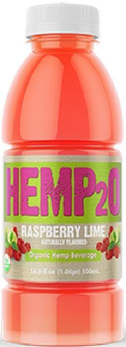 Hemp2O 261102 Organic Raspberry Lemon Vitamin Water 16.9 fl. oz - Pack of 12