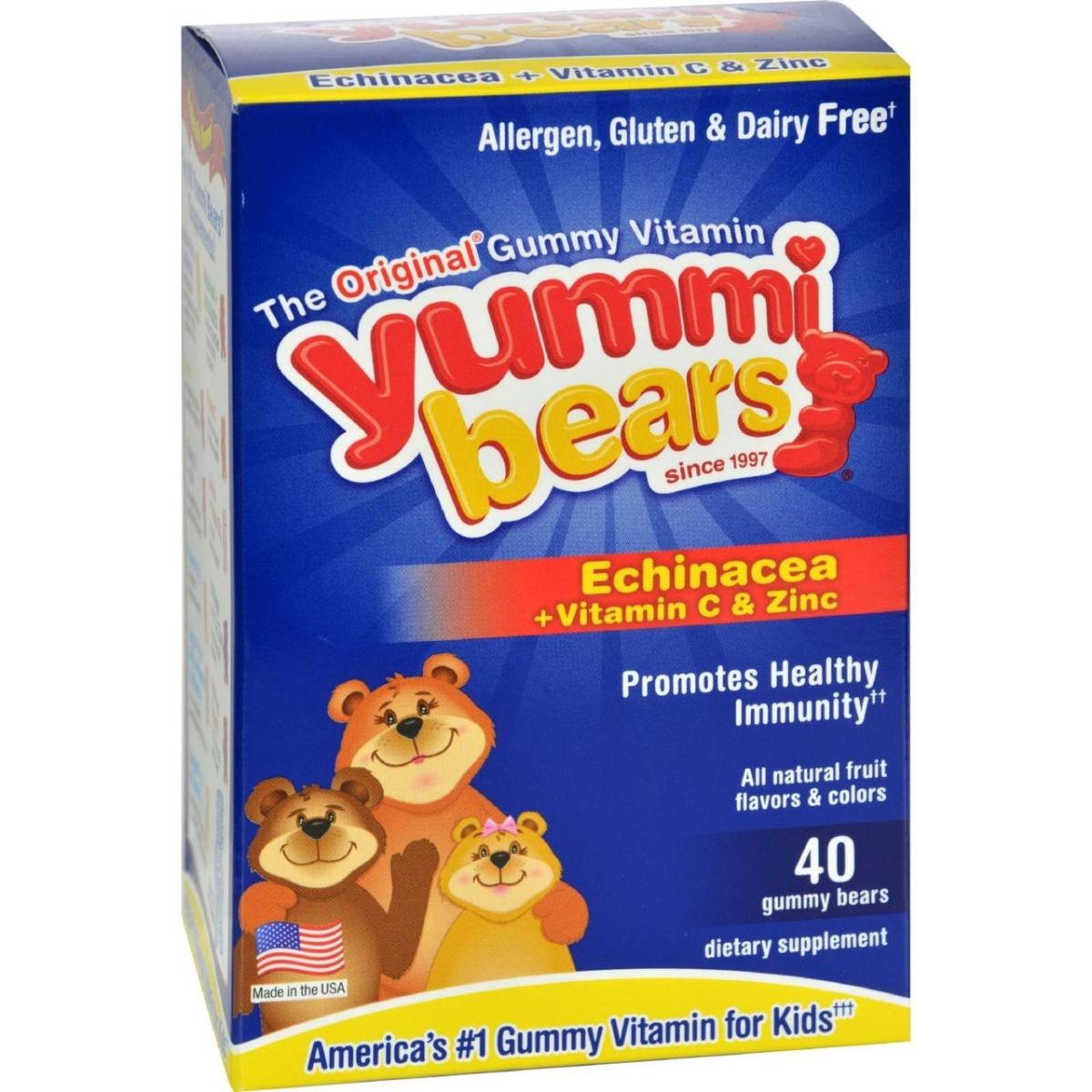 Hero Nutritional Products HG0943266 Yummi Bears Echinacea Plus Vitamin C & Zinc - 40 Chewables