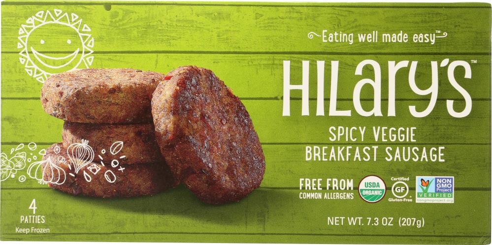 Hilarys Eat Well KHFM00287865 Spicy Veggie Sausage - 7.3 oz